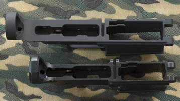 CMMG DPMS Stripped Receiver Top View